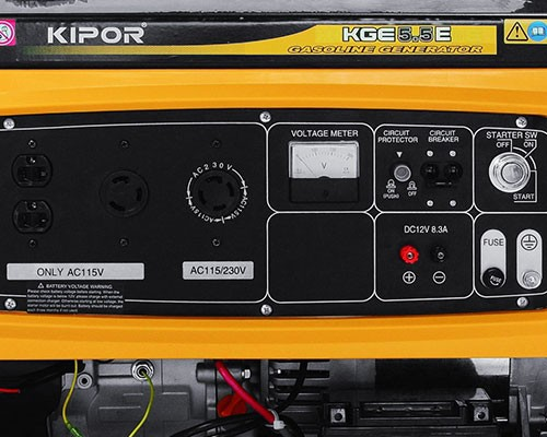 KIPOR petrol generator unit KGE5 5E (low noise type of single-phase 100 V /  single phase 200V/5 5kVA/) [gasoline engine generators], [r11] [s80]