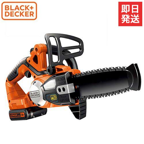 ブラック&デッカー 充電式チェーンソー GKC1820L2N (18Vバッテリー2個+急速充電器セット)