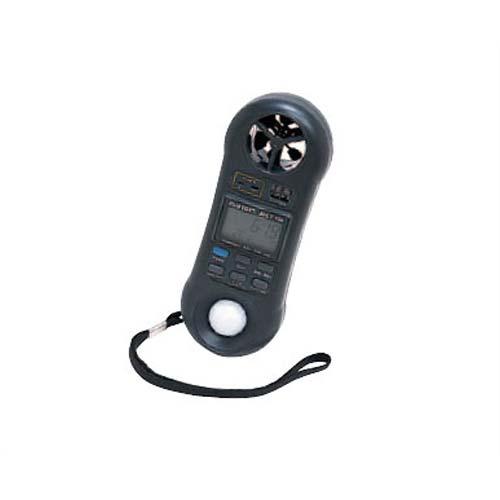 カスタム 多機能環境計測器(AHLT-100) 風速計、温湿度計、Kタイプ熱電対温度計、照度計の4機能装備