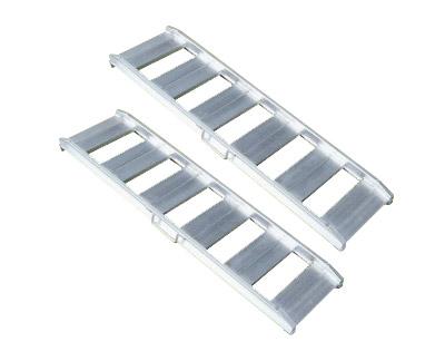 アルミス あぜこし用アルミブリッジ ABS-120-30-1.0 2本セット (120cm/幅30cm/荷重1t) [アルミ製 道板 ラダーレール スロープ]