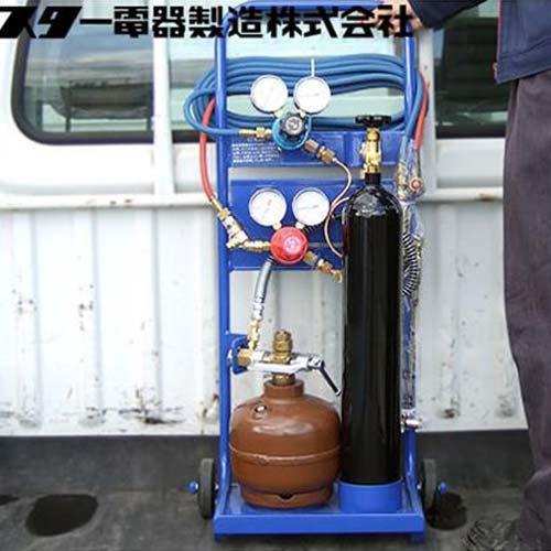 スズキッド 携帯ガス溶接切断機 ガスタンクミニ 500SSZ (運搬台車付) [スター電器 SUZUKID]
