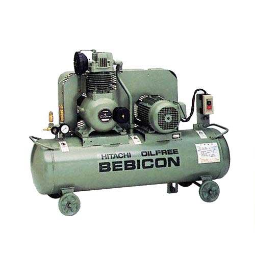 日立産機 コンプレッサー ベビコン 0.75OP-9.5GSB5/6 (オイルフリー/100V/1馬力) [コンプレッサー]