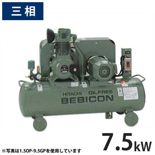 日立生产机eakompuressaoirufuribebikon 7.5OP-8.5GP5/6(无加油式/压力开关式/相200V 3/7.5kW)[压缩机][r21][退货不可]