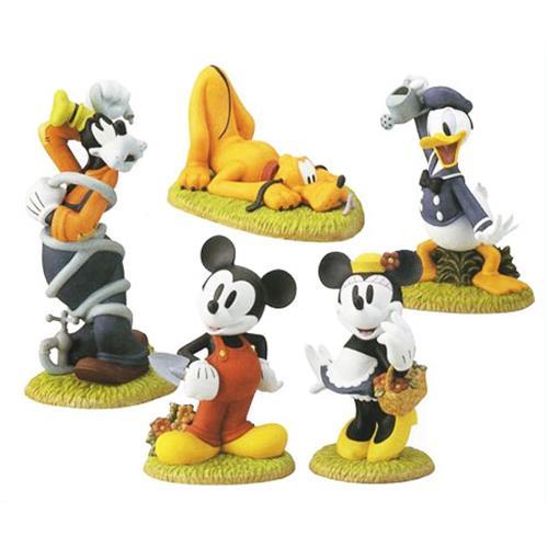 ディズニー 『ミッキーマウス&フレンズ』 庭の置物5点セット [r21]