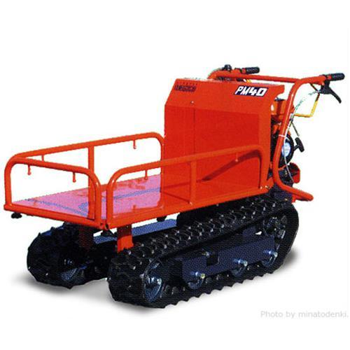 [最大1000円OFFクーポン] ヤマグチ クローラー運搬車 PM40 (積載400kg/三方パイプスライド式) [エンジン式 動力運搬車]