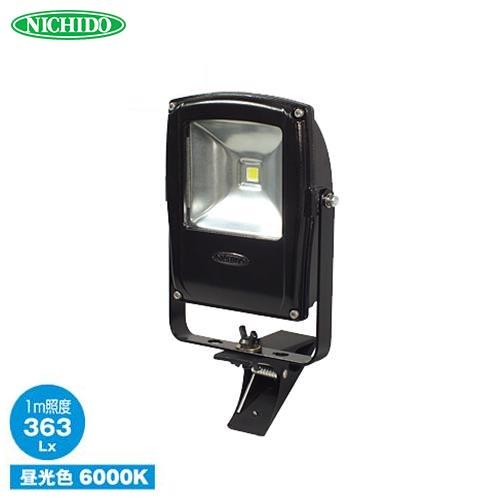 日動 LEDフラットライト クリップ式 10W LEN-F10C-BK (白熱球250W以上相当/色温度6000K/照射角120度)