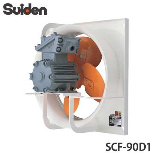 [最大1000円OFFクーポン] スイデン 有圧換気扇 防爆型 SCF-90D1 (三相200V/1速式/ハネ径90cm)