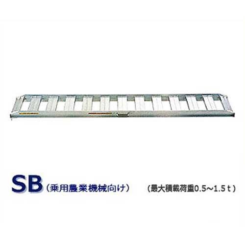 昭和ブリッジ アルミブリッジ 2本組セット SB-300-40-1.5 (300cm/幅40cm/荷重1.5t/ツメ) [道板]