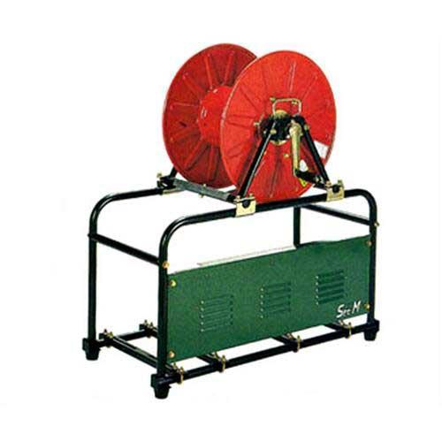 超人気 エンジン・モーター用セット台 (巻取機セット型):ミナト電機工業 MR型 安全セット台-ガーデニング・農業