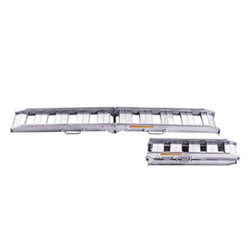 昭和ブリッジ アルミブリッジ 2本組セット NSBW-240-30-0.8 (240cm/幅30cm/荷重0.8t/折りたたみ式/ツメ)