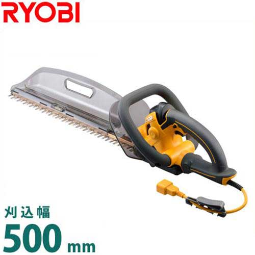 リョービ ヘッジトリマー HT-5040 (超高級刃タイプ/刈込幅500mm) [RYOBI 電動トリマー 電気バリカン]
