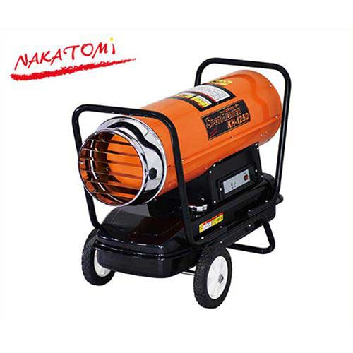 ナカトミ 業務用スポットヒーター KH-125D (熱出力32kw/灯油タンク容量30L/50,60Hz兼用) [油だき可搬形ヒーター 熱風式直火形]