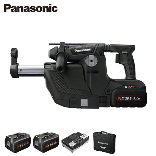 [最大1000円OFFクーポン] パナソニック 充電ハンマードリル EZ7881PC2V-B 集じんシステム付き (電池2個・充電器・ケース付) [Panasonic]