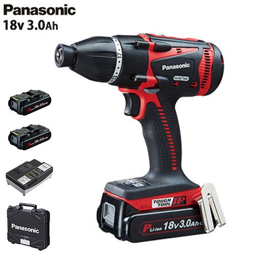 パナソニック 充電マルチインパクトドライバー 18V 3.0Ah EZ75A9PN2G-R (赤/電池2個+ケース付/14.4V・18V両用) [Panasonic]