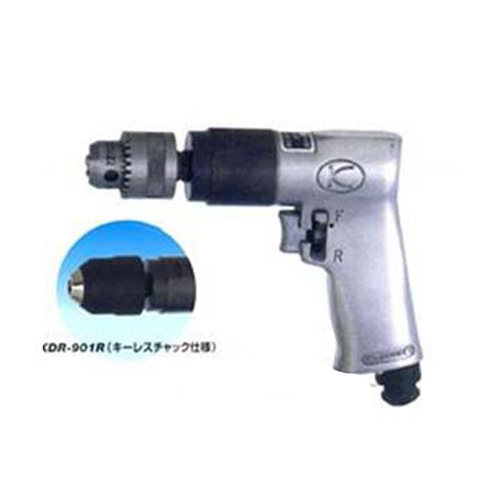 空研 エアードリル KDR-901R (穴あけ能力:10mm/キーレスチャック)