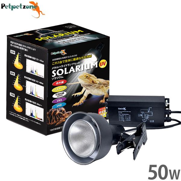 ソラリウム メタルハライドランプ 50Wセット (HIDランプ+ソケット+共通安定器) [ゼンスイ 照明 UVランプ 爬虫類 飼育 ペットペットゾーン]