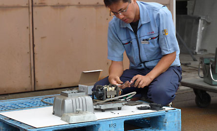 """供安永空气水泵LP-80H、100H、120H使用的""""腔块""""[吹风机鼓风机吹风机][r10][s1-120]"""