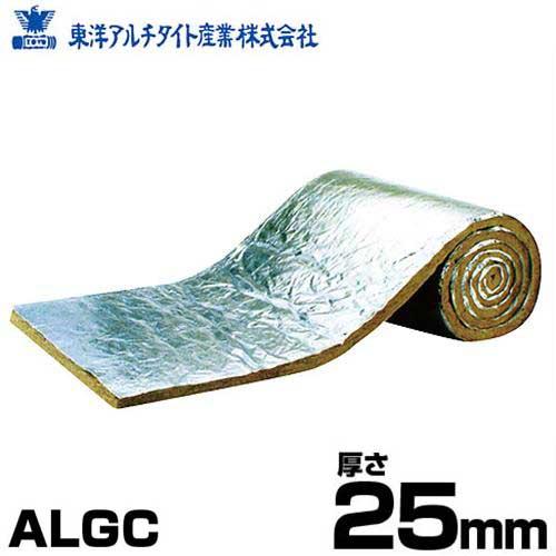 東洋アルチタイト ロックウール MGマイティロール・ALGC型 厚さ25mm×巾910mm×11m巻 (アルミガラスクロス仕様/密度40kg)