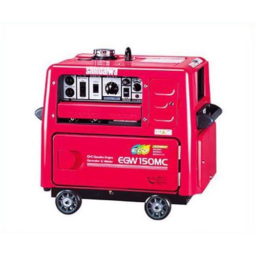 新ダイワ(やまびこ) 防音型ガソリンエンジン溶接機 EGW150MD-i (インバーター発電) 【返品不可】