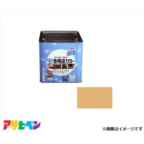 アサヒペン 水性多用途カラー 10L シトラスイエロー [高耐久 防カビ 防サビ]