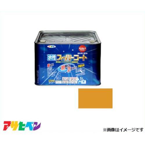 アサヒペン 水性スーパーコート 5L シトラスイエロー [無臭 1回塗り サビドメ カビドメ]