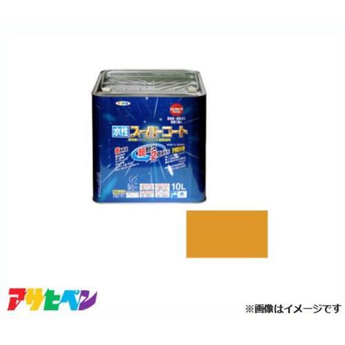 アサヒペン 水性スーパーコート 10L (シトラスイエロー) [ハウスケア 無臭 1回塗り サビドメ カビドメ][r11][s3-140]
