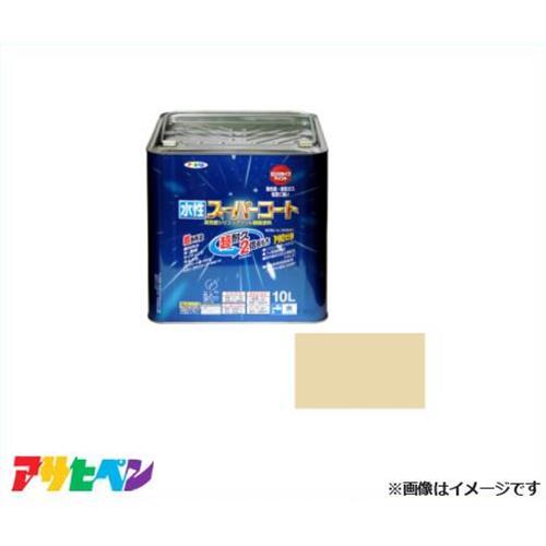アサヒペン 水性スーパーコート 10L ティントベージュ [無臭 1回塗り サビドメ カビドメ]