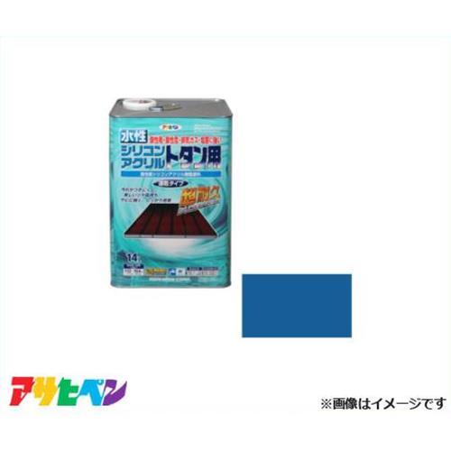 アサヒペン 水性シリコンアクリルトタン用 14L (スカイブルー) [ハウスケア 超耐久 速乾][r11][s3-140]