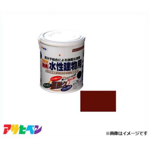 アサヒペン 水性建物用 1.6L 茶色 [ドア 雨戸 戸袋 羽目板 板べい 屋内外 木製品]
