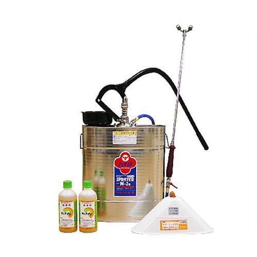 ステンレス製 背のう噴霧器 M-1Y+除草剤2本+除草噴口付セット
