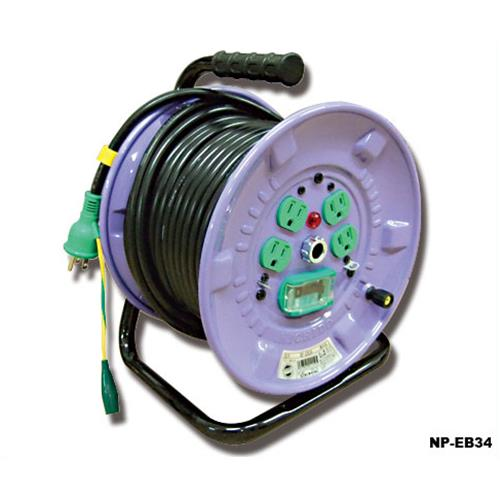 日動 漏電遮断機付 電工ドラムNP-EB34型 (2P15AX30m) [コードリール]