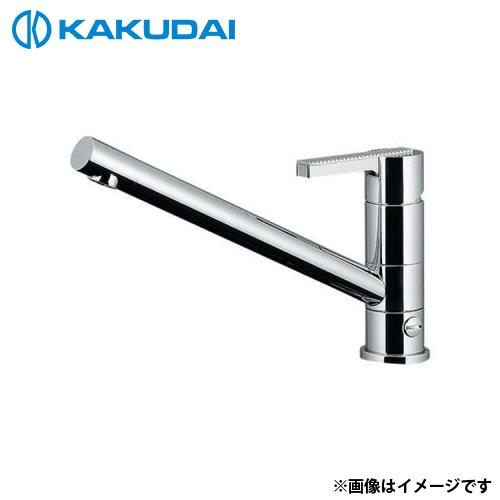 カクダイ シングルレバー混合栓 (分水孔つき) 117-108K