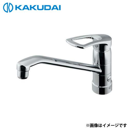 カクダイ シングルレバー混合栓 (分水孔つき) 117-061K