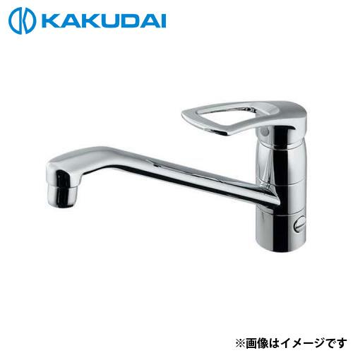 カクダイ シングルレバー混合栓 (分水孔、取付アダプターつき) 117-064 [r11][s2-120]
