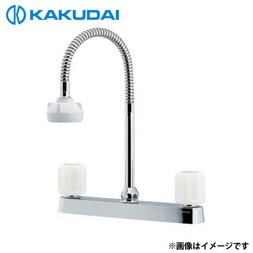 カクダイ 2ハンドル混合栓 (シャワーつき) 151-008 [r11][s2-120]