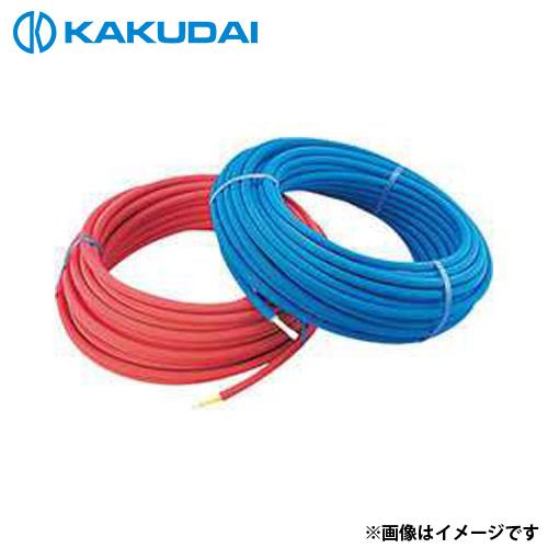 カクダイ 保温材つき架橋ポリエチレン管 (赤) 20A 672-118-50R
