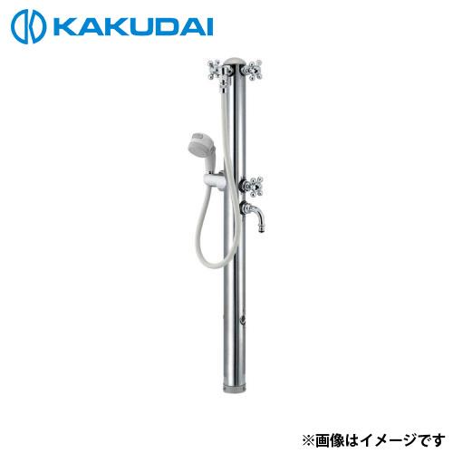 カクダイ ステンレス双口シャワー混合栓柱 (ペット用) 624-206