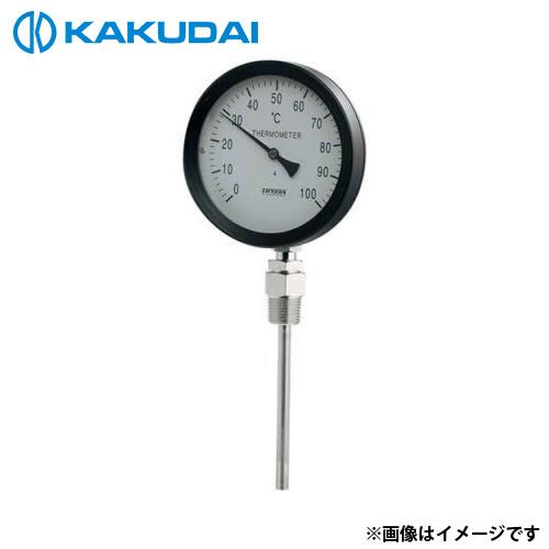 カクダイ バイメタル製温度計 (ストレート型) 649-907-50B [r11][s2-120]