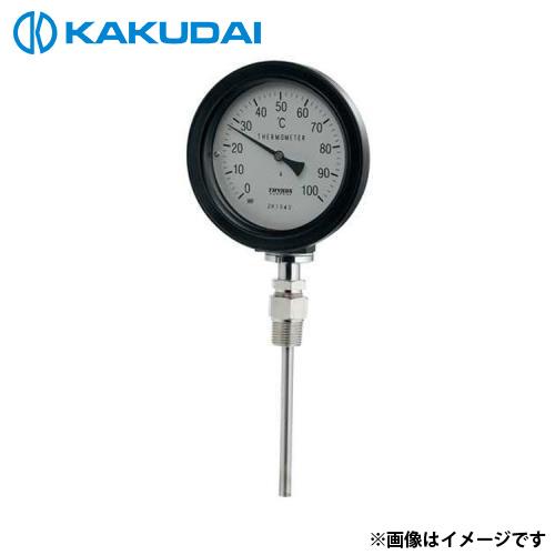 カクダイ バイメタル製温度計 (防水 ストレート型) 649-913-100B [r11][s2-120]