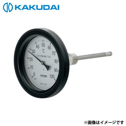 カクダイ バイメタル製温度計 (防水 アングル型) 649-915-100B