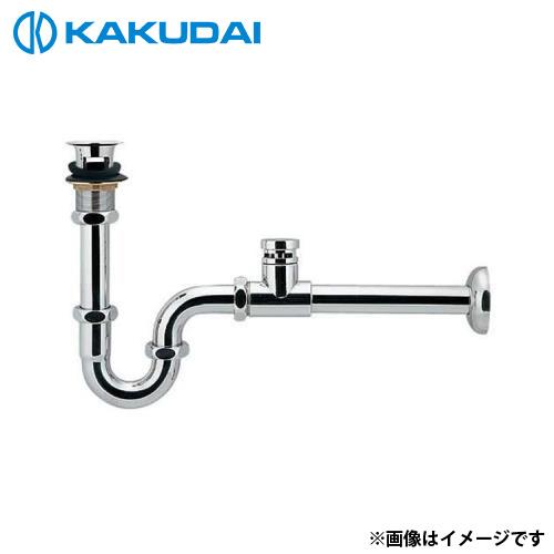 カクダイ 低位通気弁つきPトラップ (オーバーフロー付洗面器用) 423-822-32