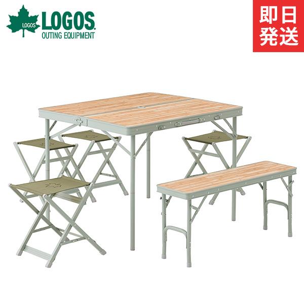 ロゴス(LOGOS) LOGOS Life ベンチテーブルセット6 73183014 [折りたたみ 6人用 チェア]