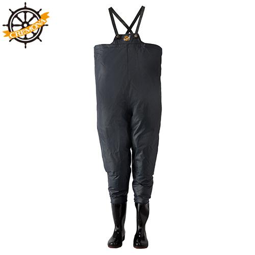 ロゴス(LOGOS) クレモナ水産 胴付き長靴 鉄紺 25.5cm 10068255 [産業用作業着 水用]