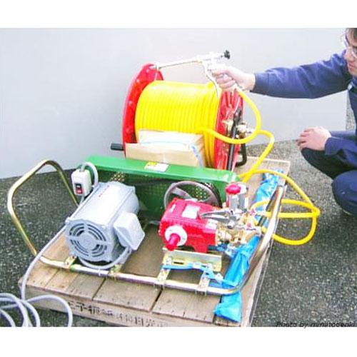 ミナト 中型3連動噴セット 《三相3馬力モーター+ピストル噴口+50m高圧ホース付セット》 [大水量型 高揚程型 散水ポンプ 灌水ポンプ]