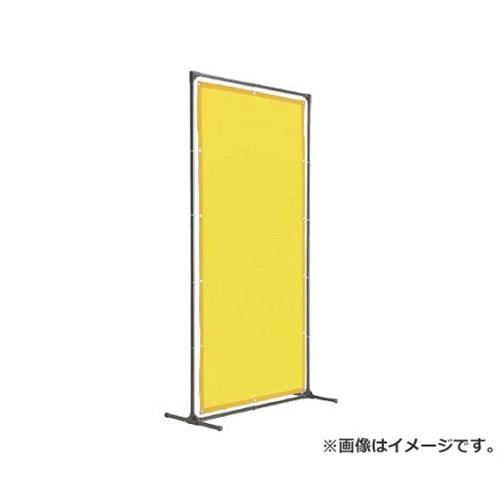 TRUSCO 溶接遮光フェンス 1015型単体 固定足 黄 YF1015KY