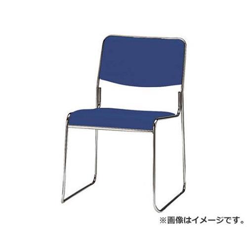 TOKIO スタッキングチェア メッキ脚タイプ ビニールレザー インディゴブルー FSC15MLIB [r22]