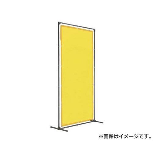 TRUSCO 溶接遮光フェンス 1515型単体 固定足 黄 YF1515KY