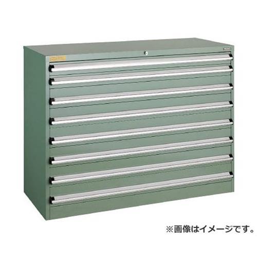 TRUSCO VE13S型キャビネット 1300X550XH1000 引出8段 VE13S1003 [r22]