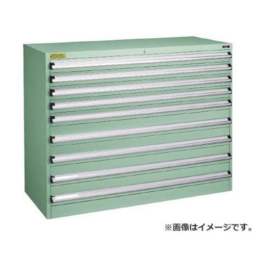 TRUSCO VE13S型キャビネット 1300X550XH1000 引出9段 VE13S1006 [r22]