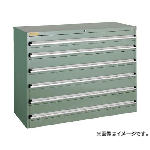 TRUSCO VE13S型キャビネット 1300X550XH1000 引出6段 VE13S1007 [r22]